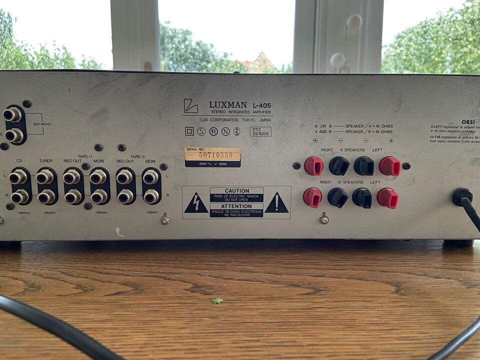 Forstærker, Luxman, L405