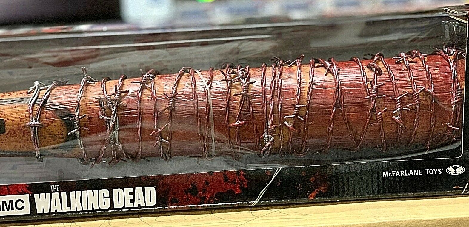 McFarlane Walre Dead Negan's Bat Lucille Take it  Like A Champ Bloody Version  colorways incredibili