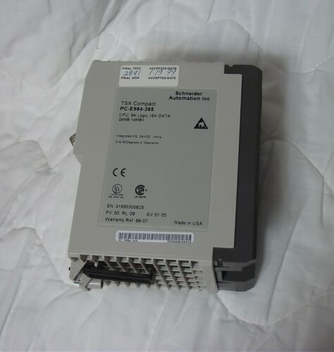 Schneider Electric Modicon  PC-E984-265 TSX COMPACT CPU  used and working