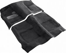 1966-67 Dodge Charger Automatic Carpet Set 2 PC Black Loop Molded w/ Padding