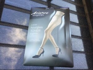 daae379d4 Image is loading Aristoc-Bodytoner-Tights-Black-10-Denier-Hourglass-With-