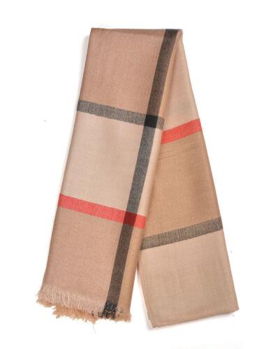 NEW Women Ladies Check tarten Winter Pashmina Scarf Shawl stole Neck Wrap Chris