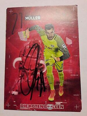72568 Marius Müller RB Leipzig 16-17 original signierte Autogrammkarte