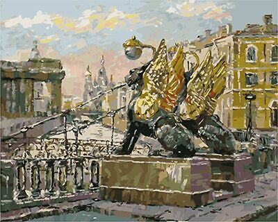City View Balcony Tiger Wing Paint By Numbers Kit DIY Number Canvas Painting Oil