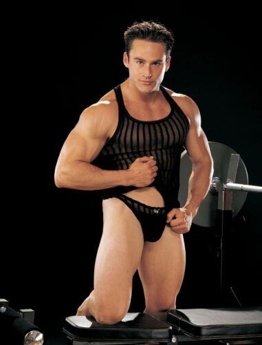 Shirley Of Hollywood GYZ taille M 38-40 noir transparent Réservoir Gilet Homme Menswear