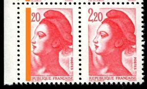 TIMBRE-VARIETES-LIBERTE-2-20-ROUGE-N-Yvert-2376-L45H