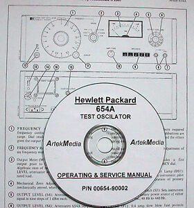 Details about HP 654A Test Oscilator Operating and Service Manual