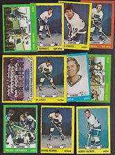 1973 / 74  Topps Team SET Lot of 11 Vancouver CANUCKS NM KURTENBACH SCHMAUTZ