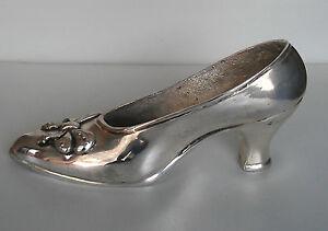 Beautiful Sterling Silver Shoe Unusual Gift Heavy