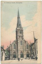 RARE 1910 GREENPOINT Brooklyn Post Card St. Anthony RC Church New York City NYC