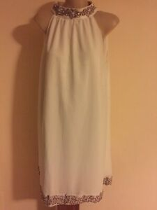 Details about Womens Kaftan White Classy Dress Sz 10 Studibaker Sydney