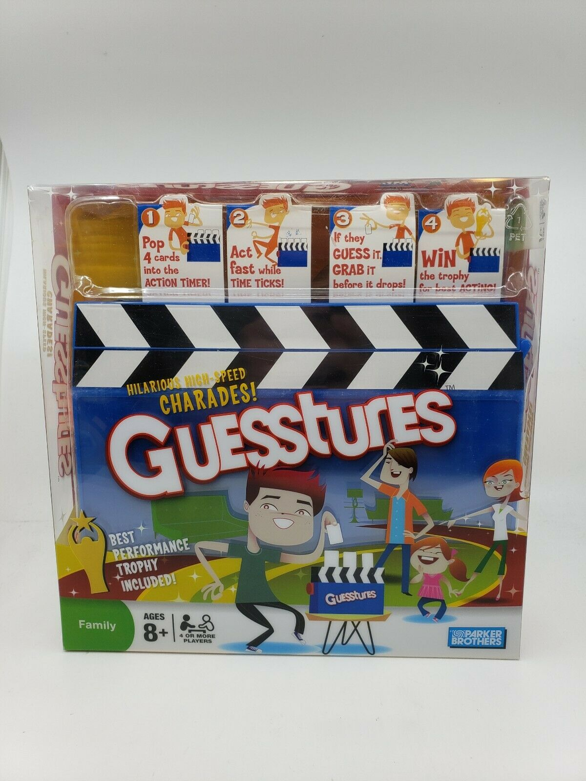 GUESSTURES NIB High Speed Speed Speed Charades Board Game Parker Bredhers 2008 NEW Unopened 7f35ab