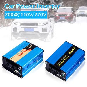 12V-110V-200W-Onduleur-convertisseur-puissance-vehicule-voiture-USB-CE