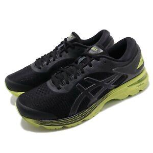 Asics-Gel-Kayano-25-Black-Neon-Lime-Men-Running-Shoes-Sneakers-1011A019-001