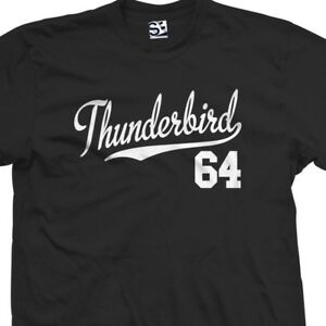 Thunderbird-64-Script-Tail-Shirt-1964-T-Bird-Classic-Car-All-Size-amp-Colors