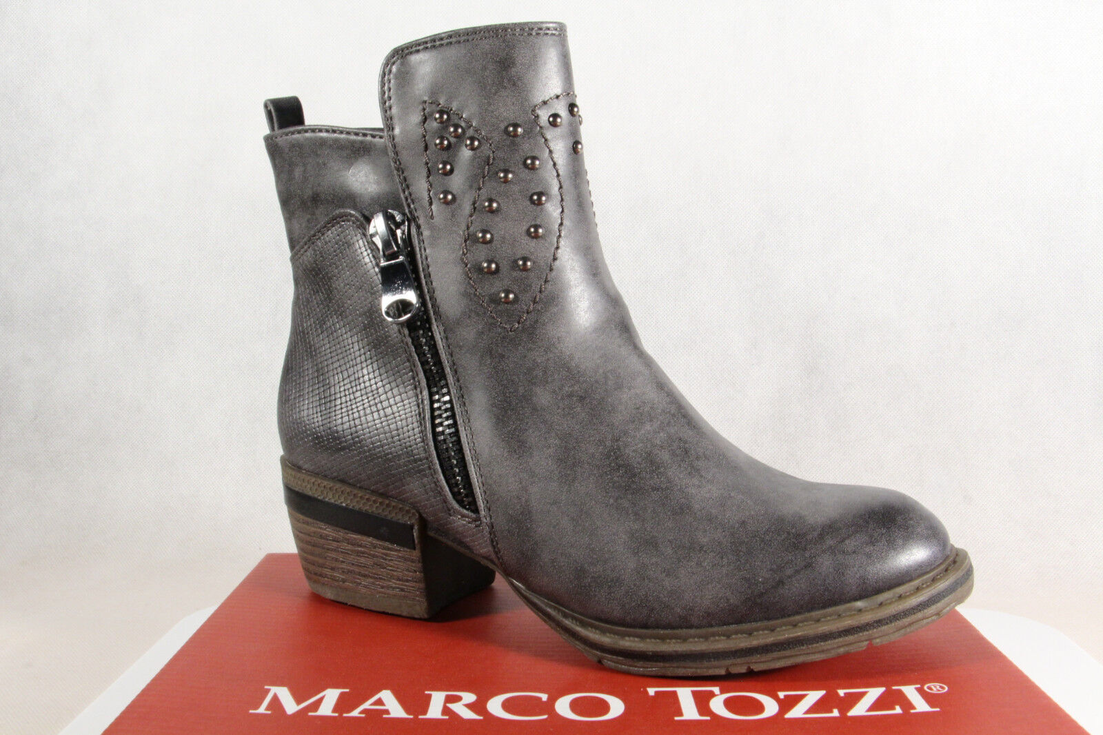 MARCO TOZZI Boots, Ankle Boots, Grey, Lightly Lined, 25361 NEW
