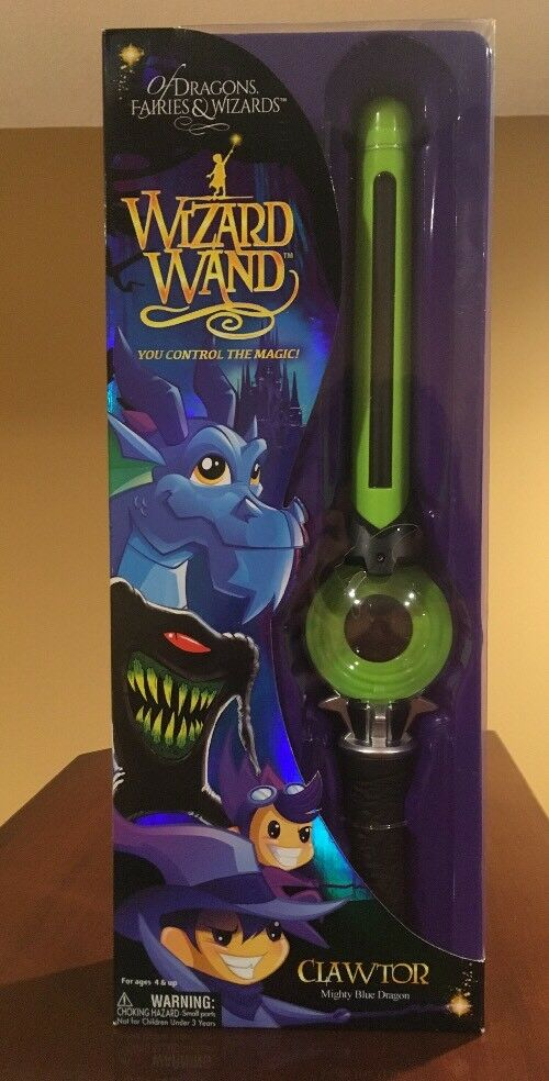 Of Dragons Fairies & Wizards Wand Clawtor Mighty bluee Dragon NEW In Box Toy