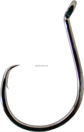 Owner SSW Up-Eye Circle Hook #9//0 Hangnail Point Medium BL Chrome 4//Pk 5178-191