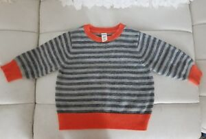 e38102964 Old Navy Baby Boys 12-18 Months Orange Gray Black Pullover Knit ...
