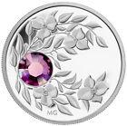 2012 Canada $3 Fine Silver Birthstone Coin - February (Amethyst)