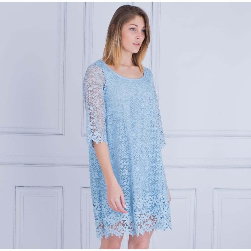 Puntas de riani vestido, forro,  en azul claro, tamaño 38  alta calidad y envío rápido
