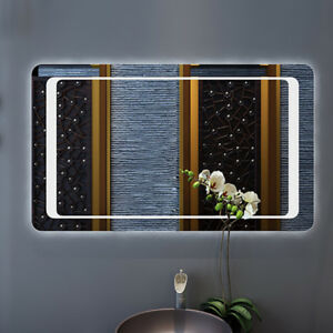 Large 800mm Modern Illuminated LED Lighted Bathroom Mirror ...