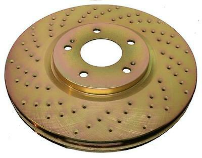 Full Kit Gold Cross-Drilled Slotted Brake Rotors Disc and Ceramic Pads 350Z,G35