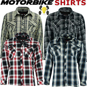 Motorbike Motorcycle Shirt Jacket Lumberjack Protection With CE Biker Armour UK