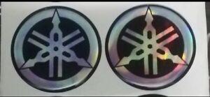 Coppia-stemmi-stemma-diapason-Adesivo-Logo-YAMAHA-resinato-Sticker-Diametro-48mm