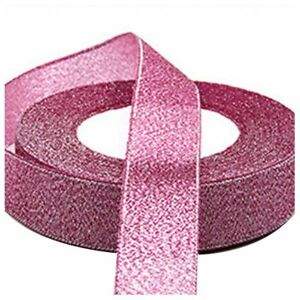 22-Metres-25mm-Double-Sided-Satin-Glitter-Ribbons-Bling-Bows-Reels-Wedding-R3E4