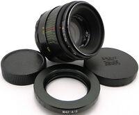 HELIOS 44-2 Russian Lens M42 to 4/3 Olympus OM Mount E520 E600 E620 E30 E3 E5 E7
