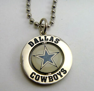 dallas cowboys logo 1 fan spinner charm nfl necklace nfl