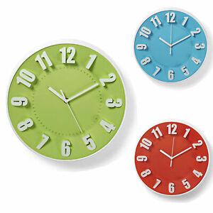 Details zu 30cm Wanduhr Küchenuhr Design modern Küche Quarzuhr Uhr 3D  Ziffern Zahlen Wohnen