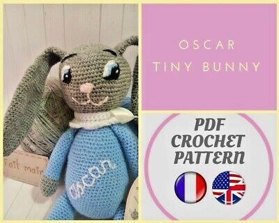 Tutoriel PDF en FRANÇAIS/ANGLAIS lapin au crochet patron | Etsy | 320x400