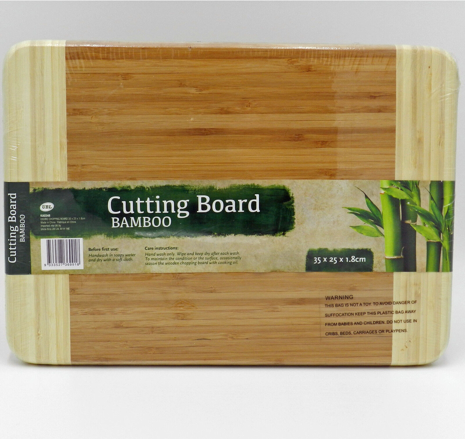 18mm Bamboo Chopping Board Cutting Kitchen Essentials Protection Mark Prep