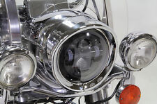 Outer Headlamp Chrome Frenched Trim Ring with Visor,for Harley Davidson motor...