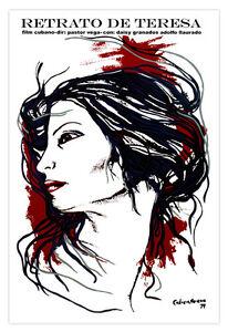 "Cuban movie Poster for/""Retrato de TERESA/""Portrait.Art.Home room wall decoration"