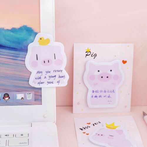 Pig Cute Stickers Kawaii Sticker Note Stationery Self Adhesive Decoration Sticky