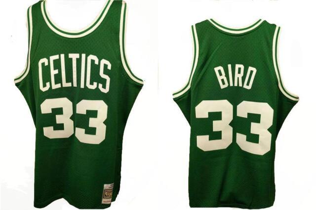 6b0210b2d Boston Celtics Larry Bird Green Mitchell   Ness Swingman Jersey M ...
