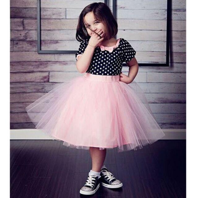 Flower Girls Toddler Kids Baby Princess Wedding Party Dress Tulle Tutu Skirt