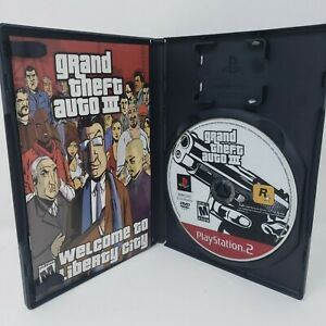 Grand Theft Auto III GH PS2 Game Sony PlayStation 2 Gta Manual - No Map