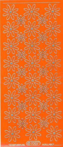 Starform Outline Stickers 7007 Fleurs Flowers Auto-collants Peel offs