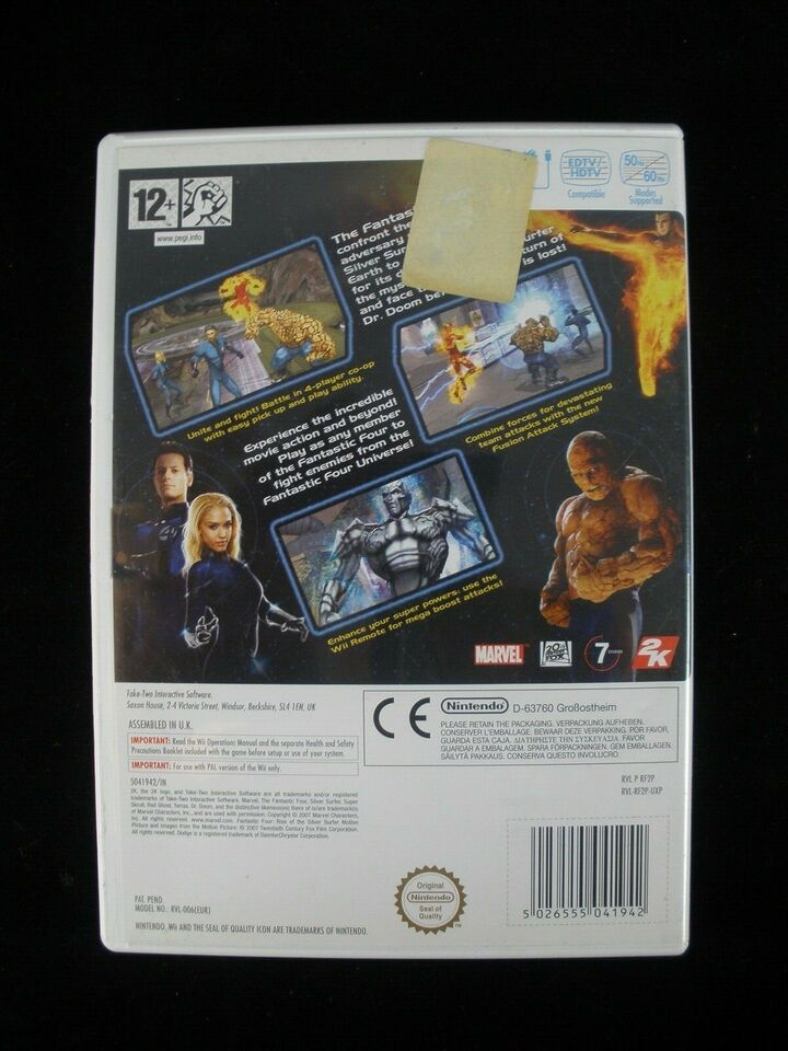 Fantastic Four - Rise of the silver surfer, Nintendo Wii,