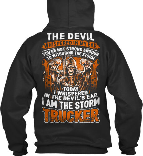 The Devil Whispered In My Ear You/'re Not Standard College Hoodie Trucker 0714