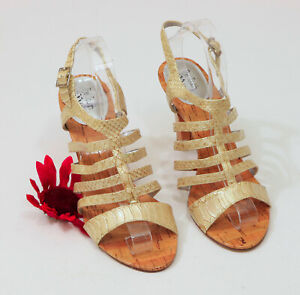 EUC-Touch-of-Nina-Metallic-Snake-Print-Strappy-Sandals-US-10M