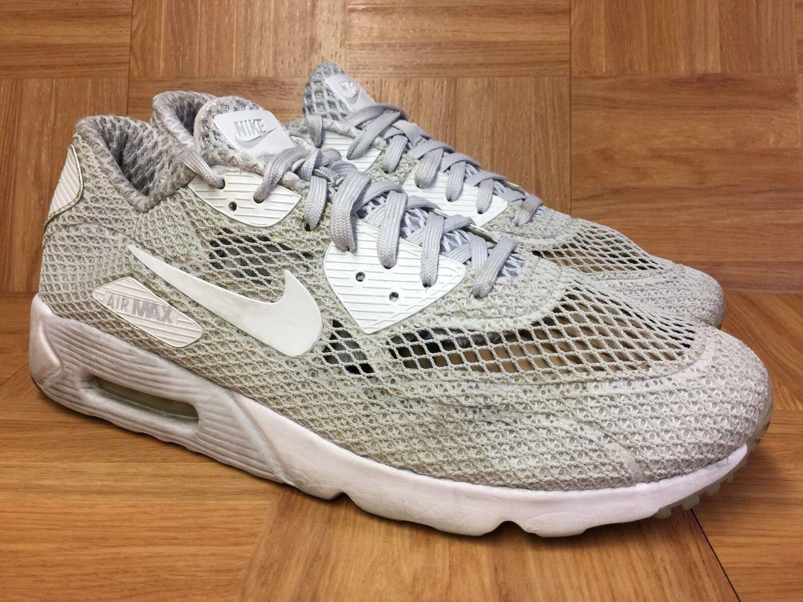 885ef033f15381 Worn Nike Nike Nike Air Max 90 Ultra BR PLUS QS Platinum White shoes Sz 13