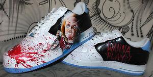 hot sale online 21901 e4aae Image is loading Custom-Nike-Air-Force-1-Airbrush-Shoes-Sneaker-
