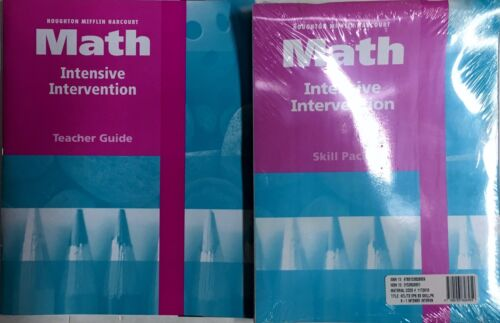 Level 1 Houghton Mifflin Harcourt Math Intensive Intervention Kit 1st Grade
