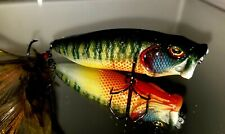 Custom Painted BASS SNAX Pop/'n Maxx  Topwater Bad Ass Bream Lure
