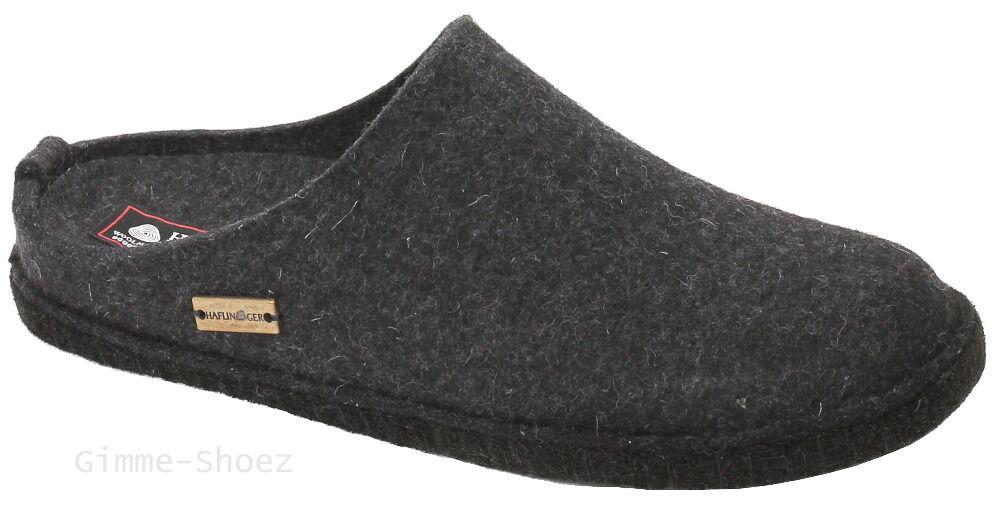 Haflinger Filztoffel FLAIR SOFT Hausschuhe graphit grau Wollfilz 311010 NEU